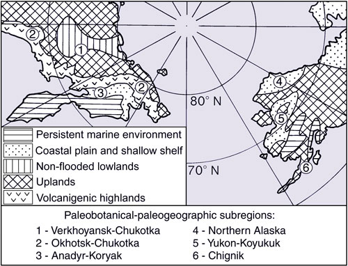 Map of paleogeographic subregions in the North Pacific Region